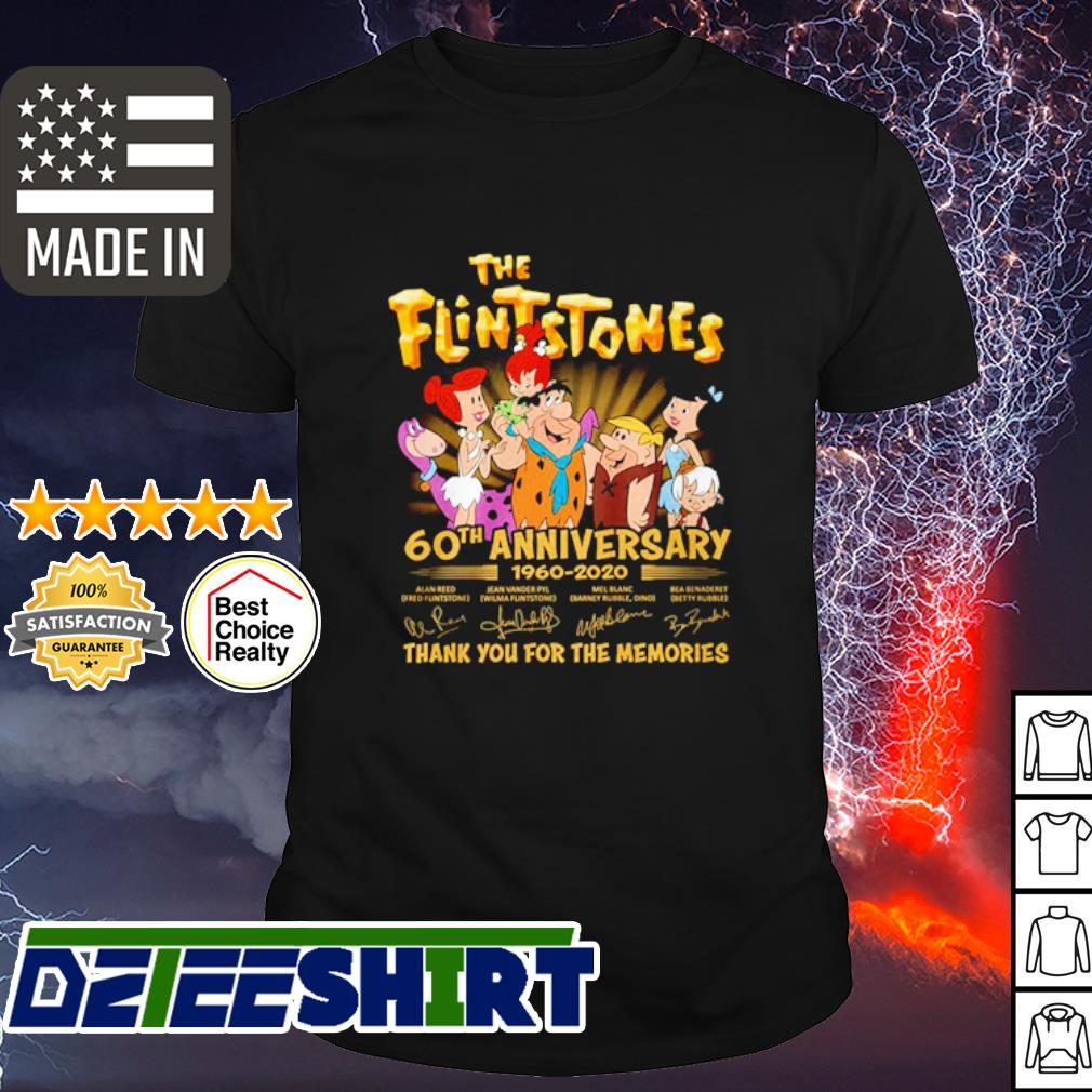 The Flintstones 60th Anniversary 1960 2020 thank you for the memories shirt