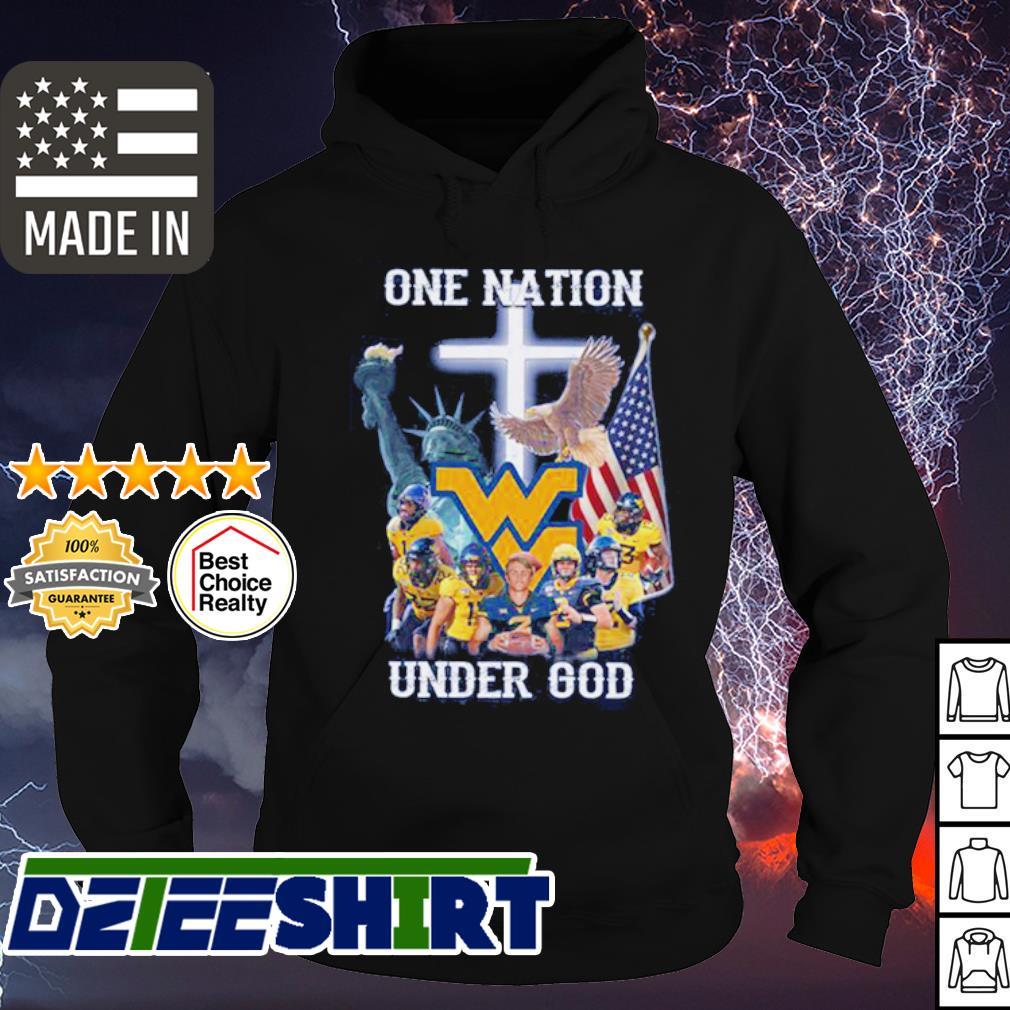 West Virginia MountaineersOne nation under god American Flag s hoodie