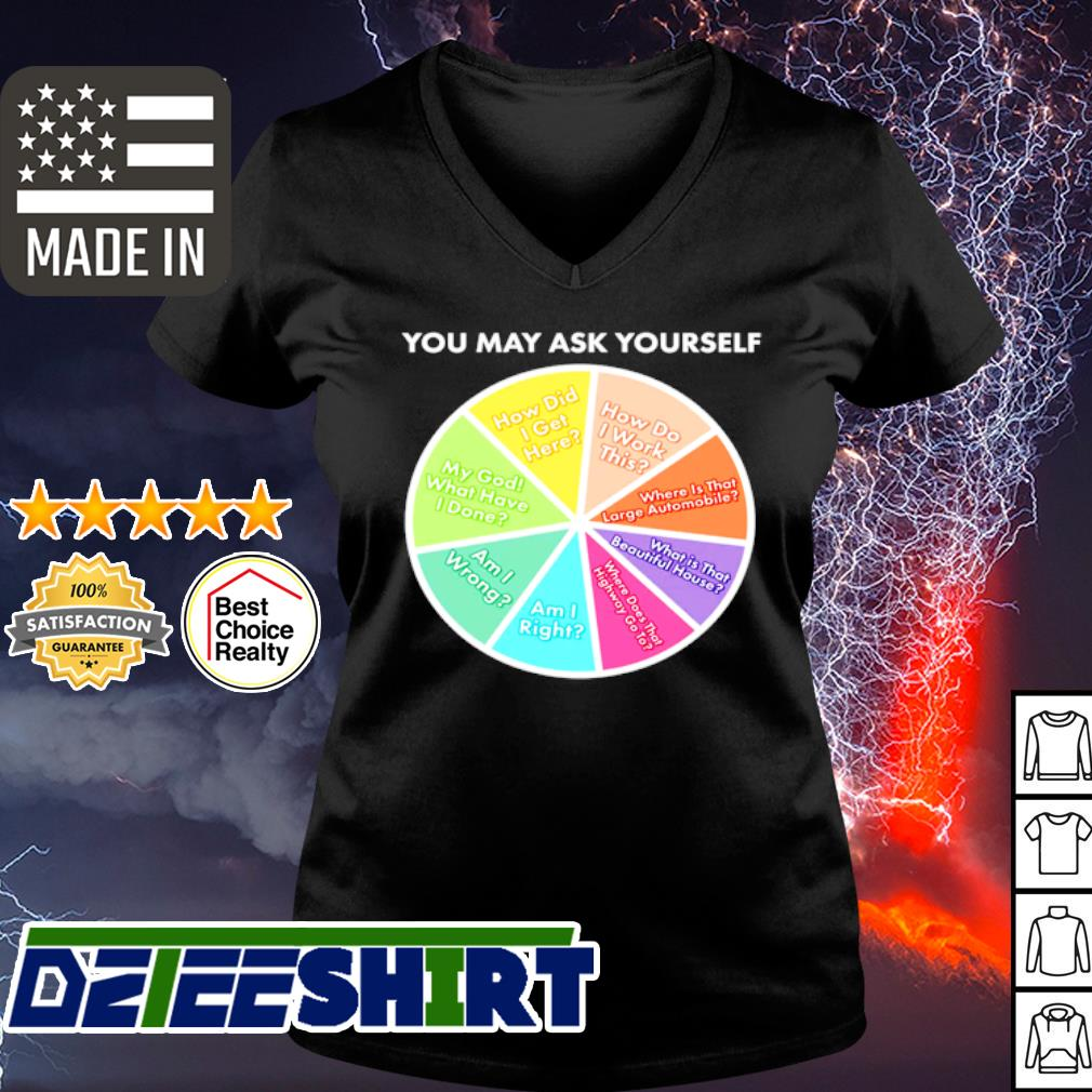 You may ask yourself pie chart s v-neck t-shirt