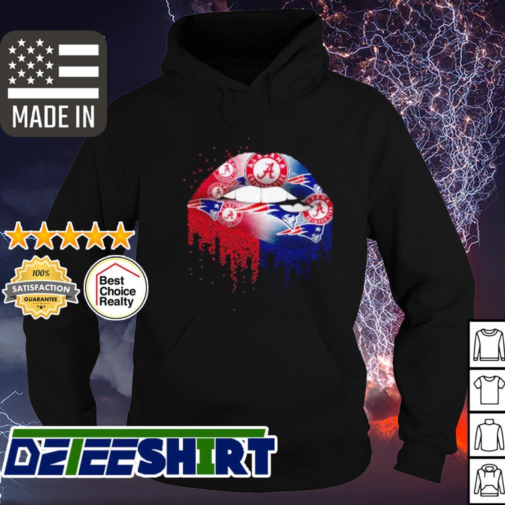 Alabama Crimson Tide and New England Patriots lips s hoodie