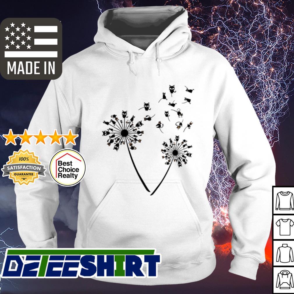Black cat dandelion s hoodie
