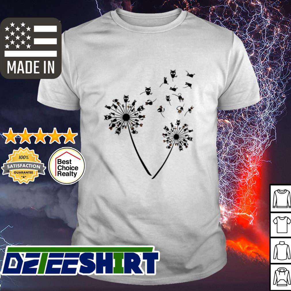 Black cat dandelion shirt