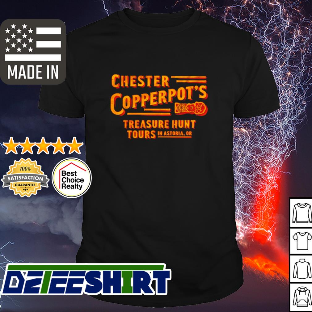 Chester copperpot's treasure hunt tours in astoria or shirt