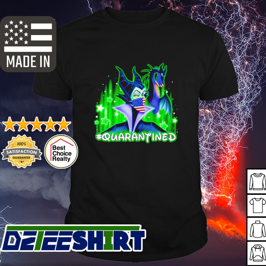 Disney Maleficent mask quarantined coronavirus shirt