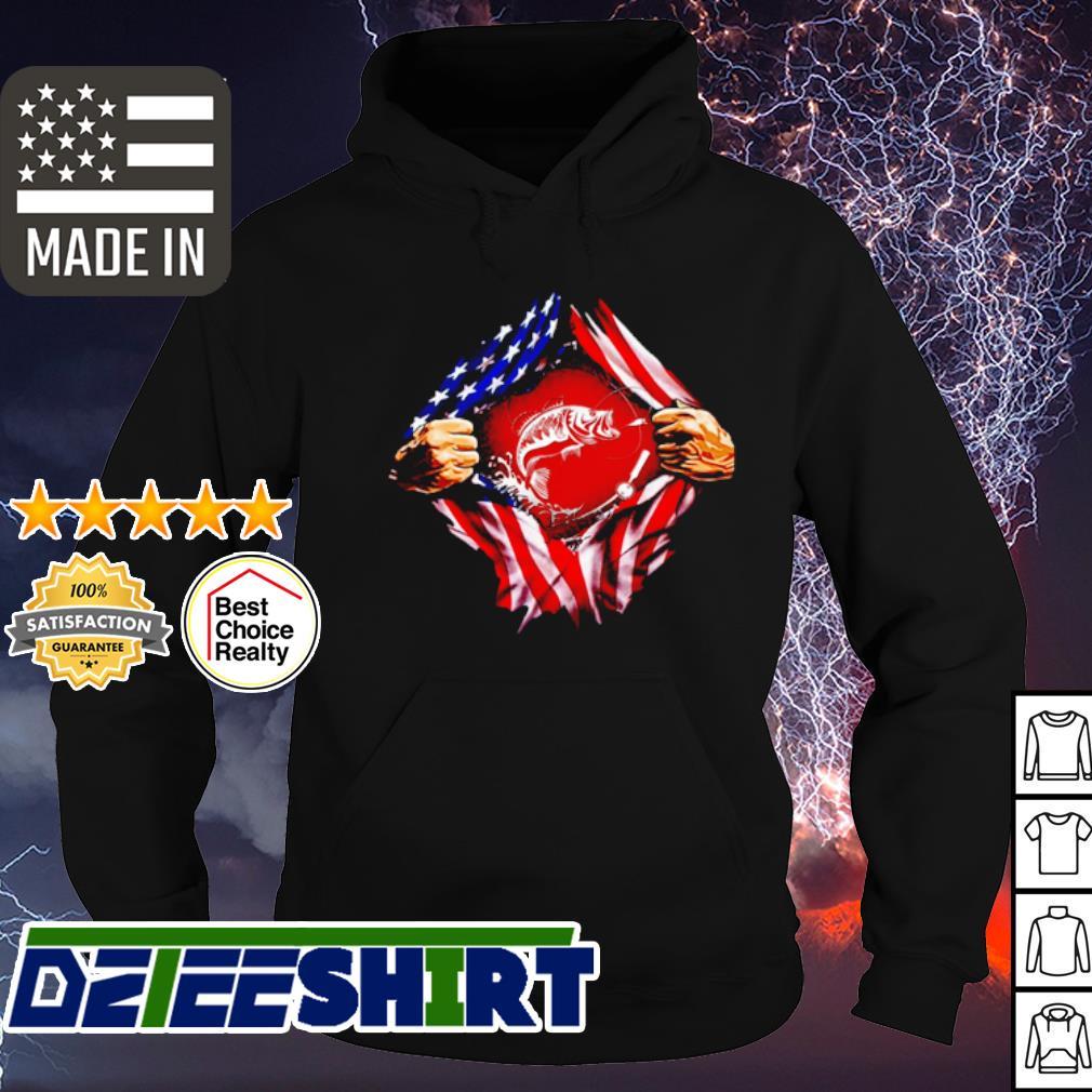 Fishing blood inside me American flag s hoodie