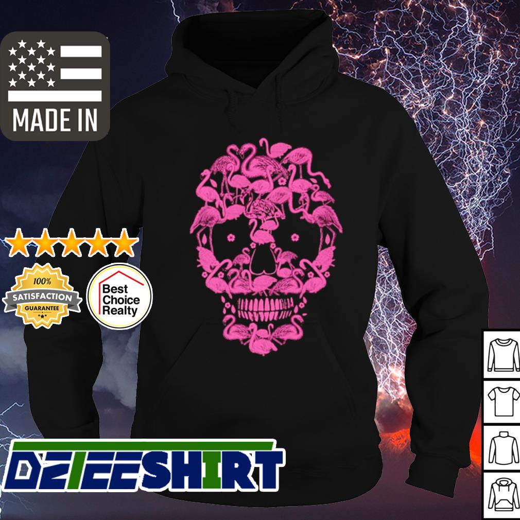 Flamingos Skull Halloween s hoodie