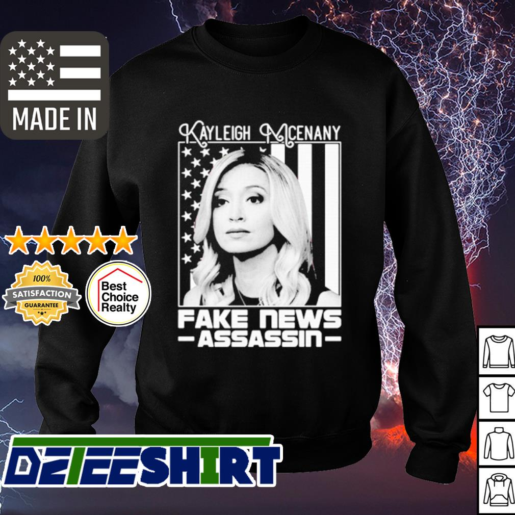 Kayleigh McEnany fake news assassin American flag s sweater