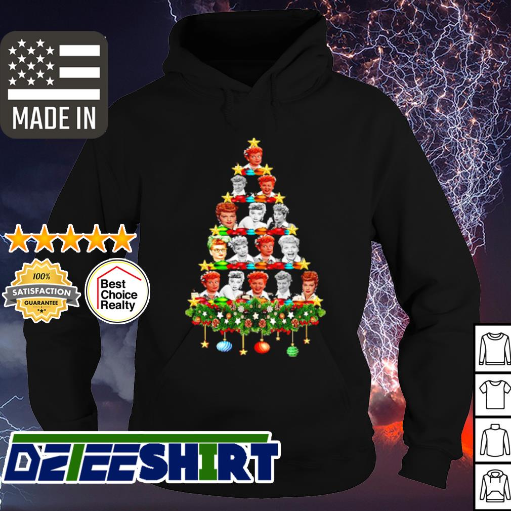 Lucille Ball Christmas trees sweater hoodie