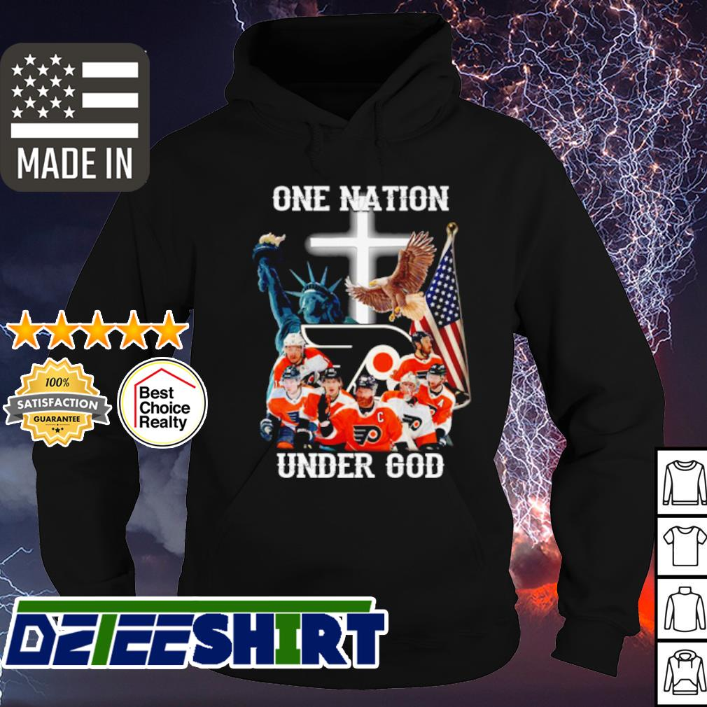 Philadelphia Flyers hockey game one nation under god s hoodie