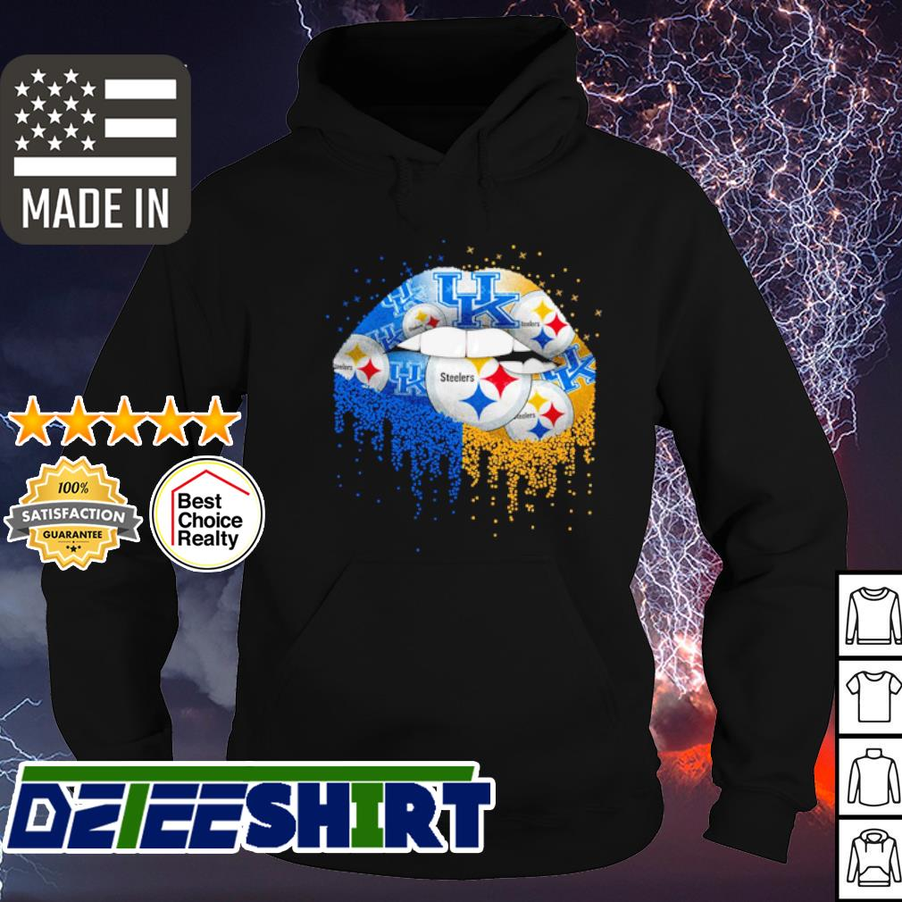 Pittsburgh Steelers and Kentucky Wildcats lips s hoodie