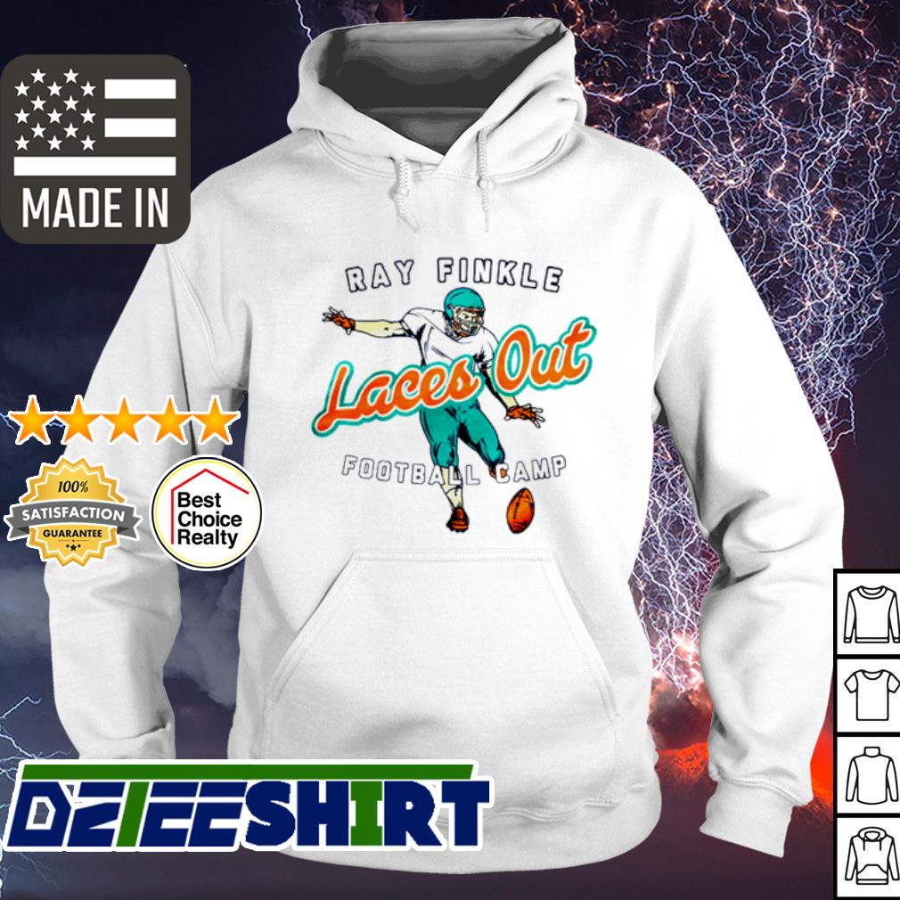 Ray Finkle Laces out football camp s hoodie