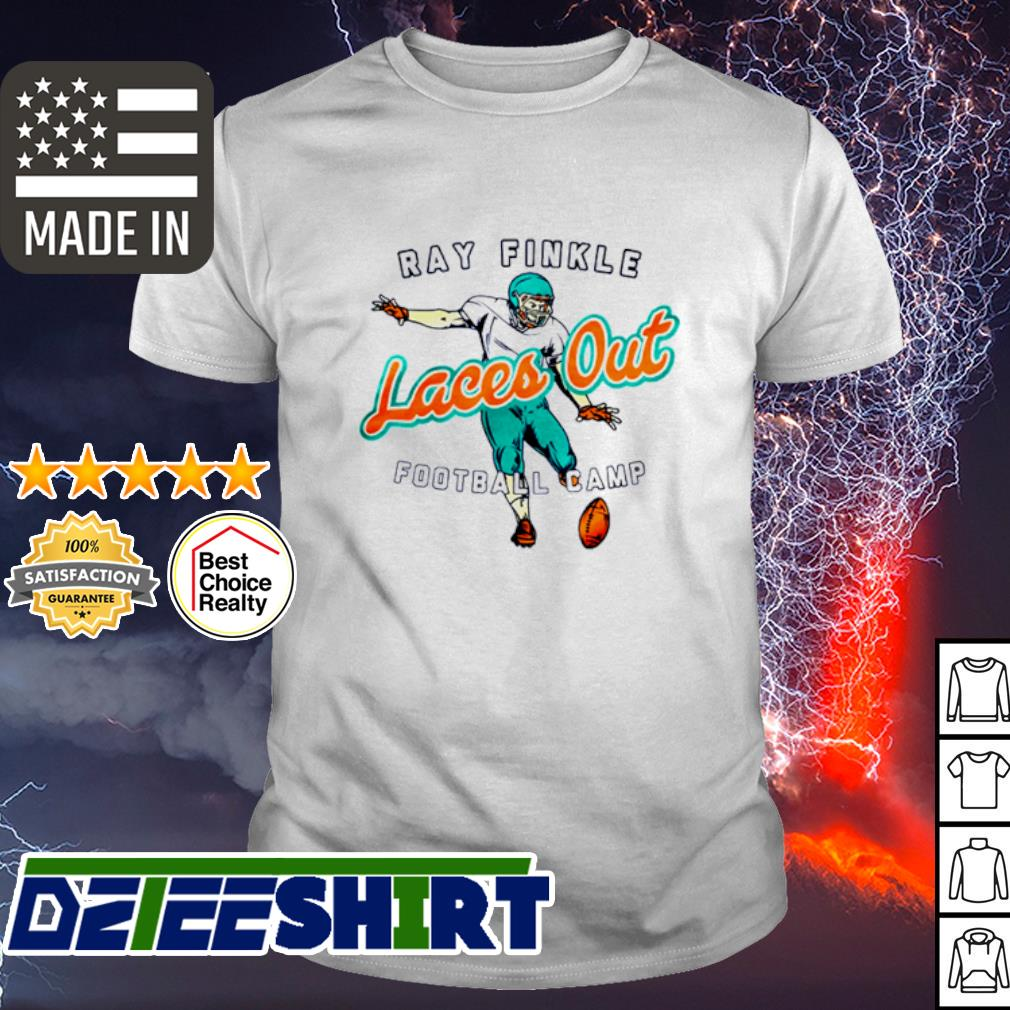 Ray Finkle Laces out football camp shirt