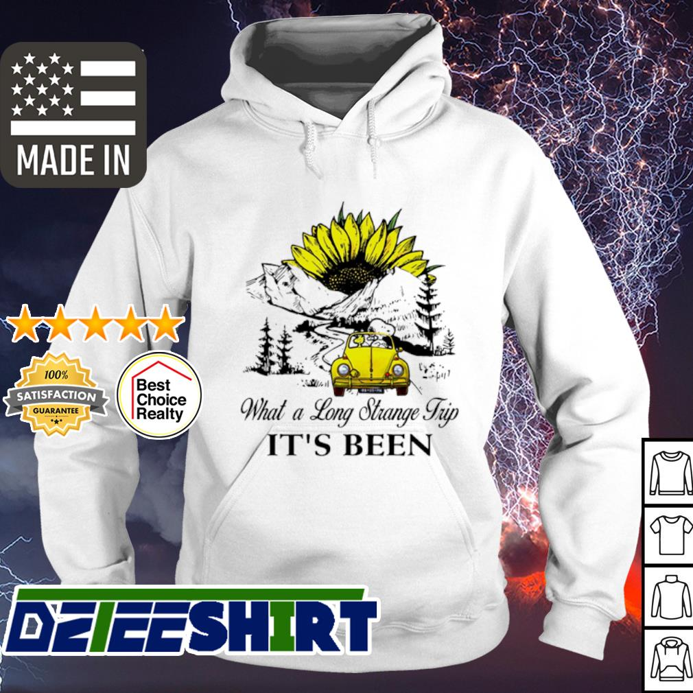 Snoopy what a long strange trip it's been sunflower s hoodie
