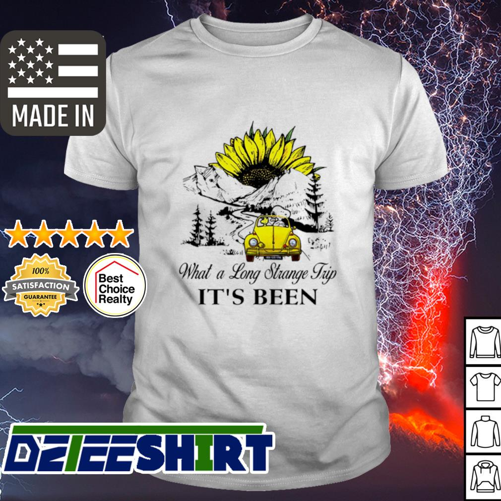 Snoopy what a long strange trip it's been sunflower shirt