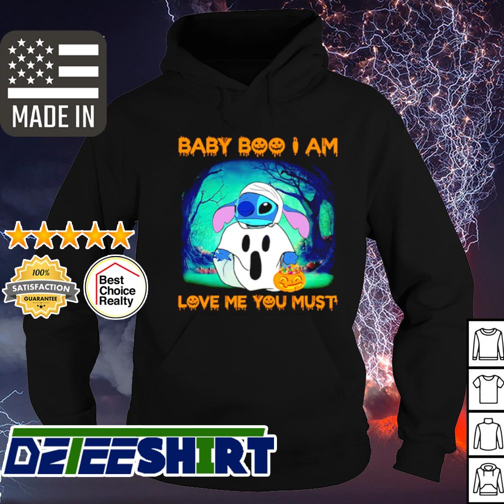 Stitch Baby Boo I am love me you must Halloween s hoodie