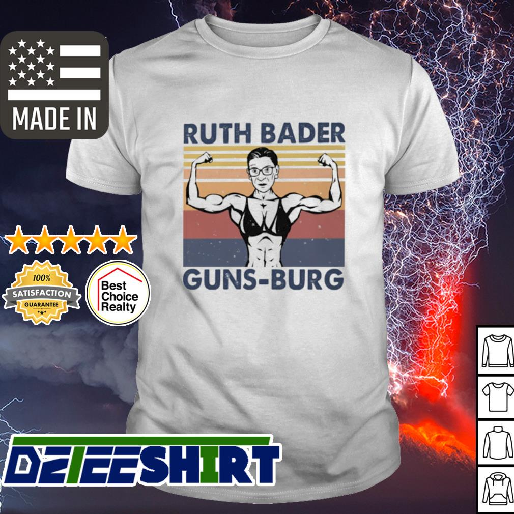 Strong Ruth Bader Ginsburg Guns Burg vintage shirt
