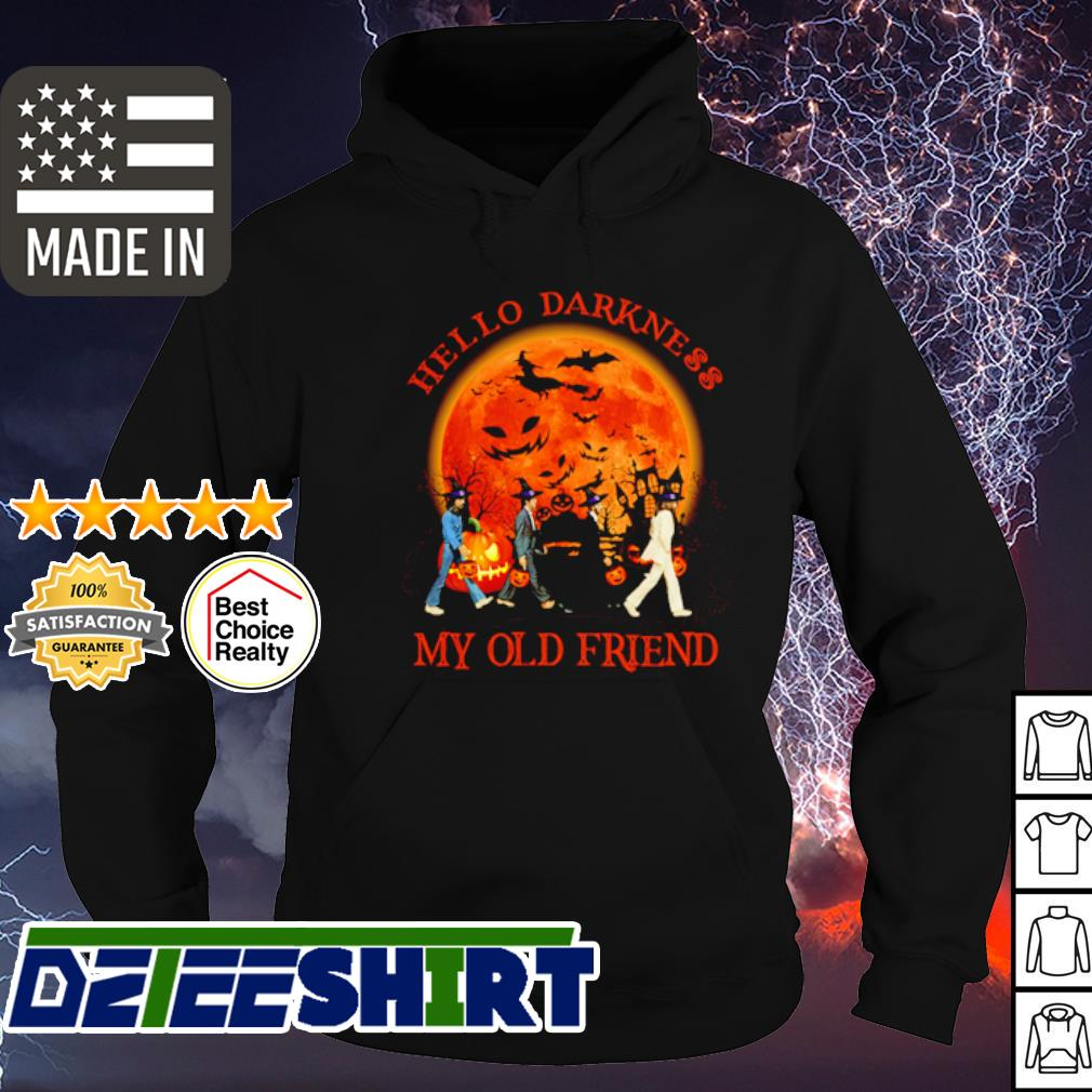 The Beatles Abbey Road hello darkness my old friend Halloween s hoodie