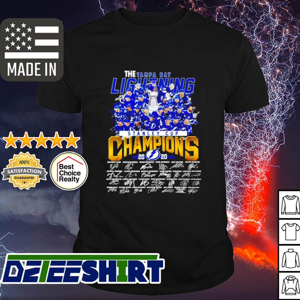 The Tampa Bay Lightning Stanley cup Champions 2020 signature shirt