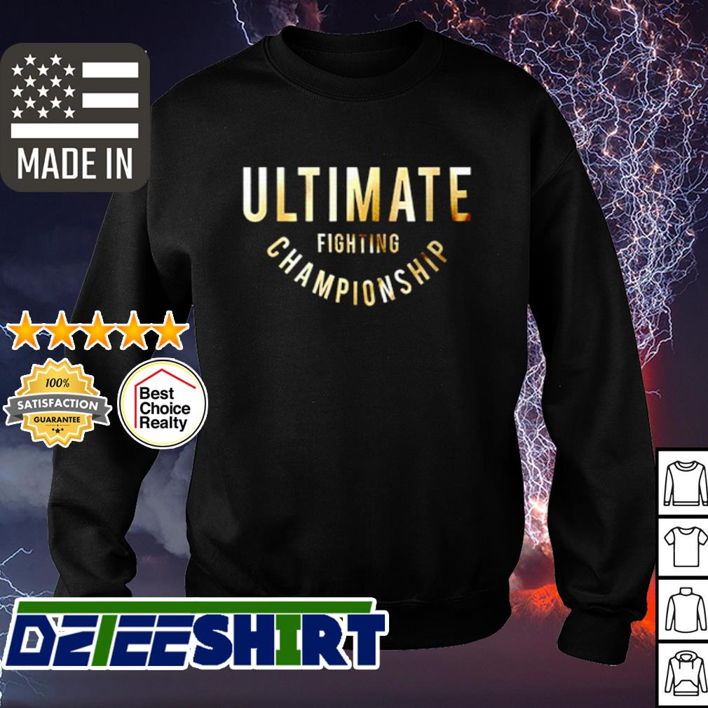 Ultimate fighting championship s sweater