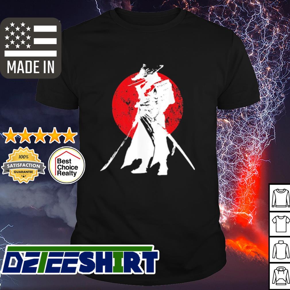 Samurai warrior sword retro shirt